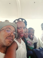 My family on a ride to Ilha island