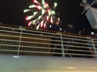 New Year's Eve fireworks, Disney Wonder