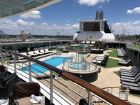 Lido deck main pool area