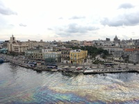 Overlooking Havana Vieja as we leave port.