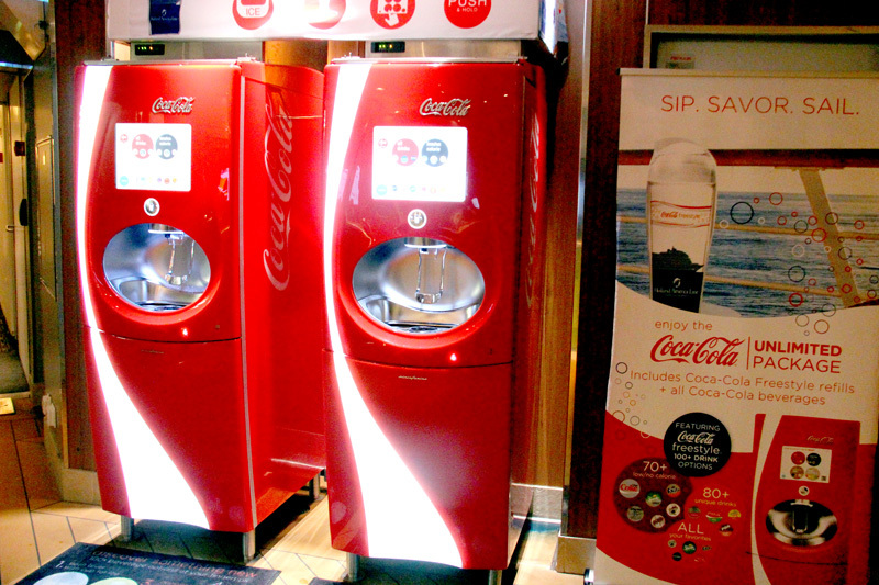 Coke machine drinks for $8/day