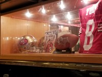 Steve Young display in Casino Bar
