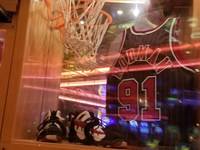 Rodman display in Casino Bar