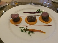 Veal tenderloin at the Chef's Table restaurant