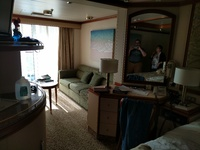 Cabin D523, Mini Suite mid ship.  Great location, good size.  Be prepared t