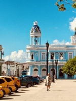 Blue House and Yellow Cabs, Cienfuegos