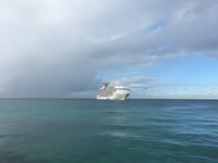 Photo of the Carnival Dream in Jamaica.