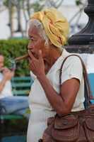 Woman Enjoying Her Cigar