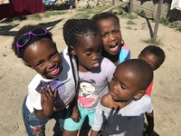 Happy children in East London township