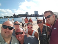 A group photo as we exited Allure in Cozumel.