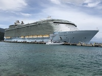 Oasis of the Seas docked at the private beaches of Labadee, Haiti