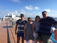 One happy family on the deck of the MSC Sinfonia
