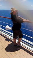 Enjoying some fun under the Sun on the top deck of the cruise ship