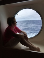 Porthole - big enough for an adult to sit in.