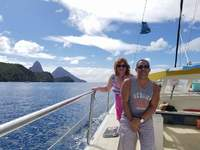 St Lucia Catamaran Cruise to Ladera Resort.  The crew make this trip a blas