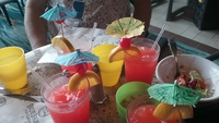 Umbrella drinks galore to kick off cruise