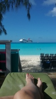 Private cabana on Half Moon Cay
