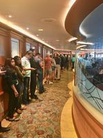 Long, long lineups for buffet.  Due to most of the other dinning buffets CL