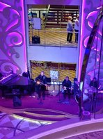 The band playing in the Centrum, from the 5th floor