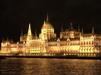First night on board. Night cruise to see the lights of Budapest. Beautiful!!