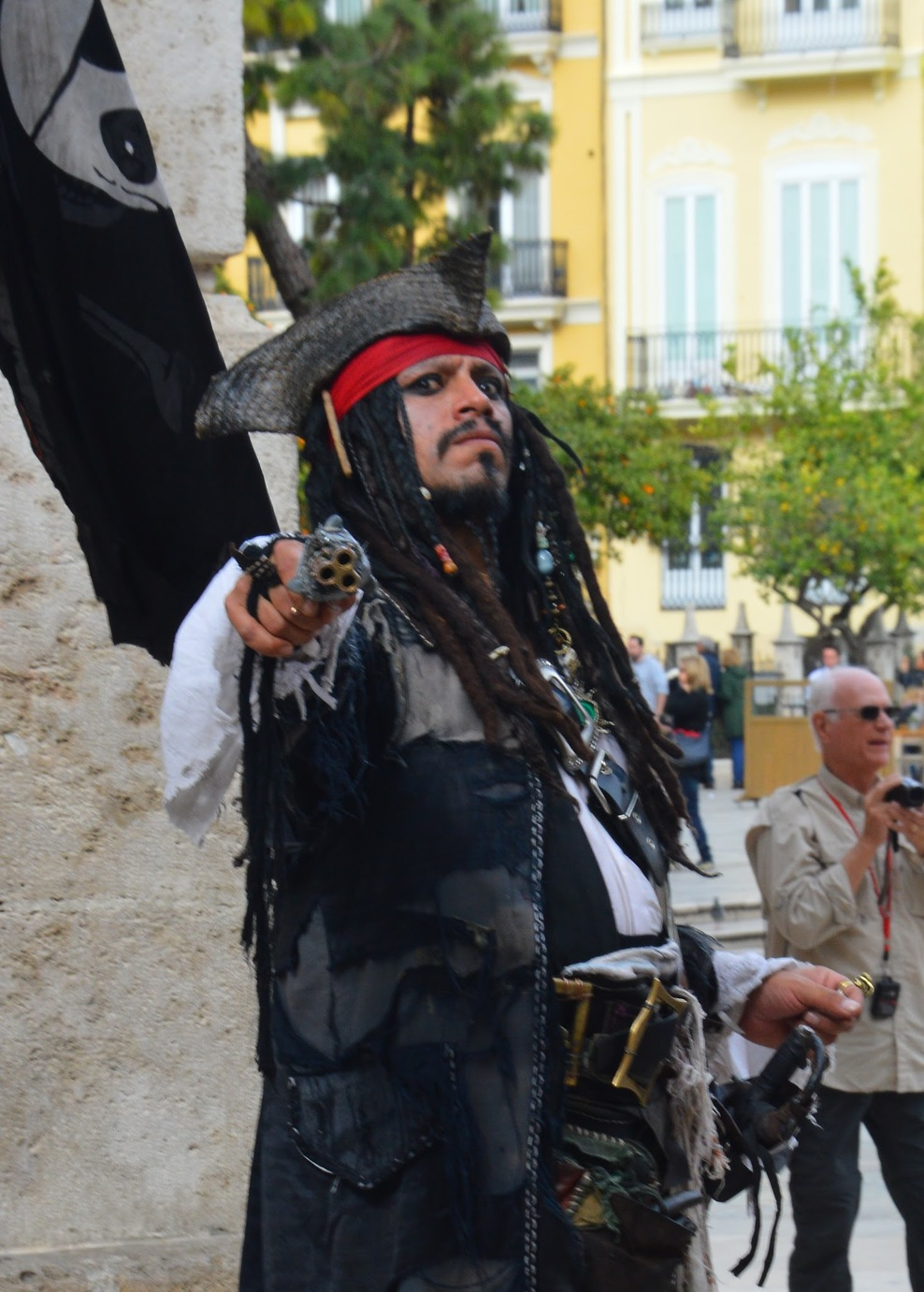 Street performer in Valencia
