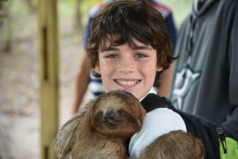 We all fell in love with the Sloths I'm Roatan