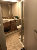 Bathroom - very roomy with lots of storage/cupboards/drawers