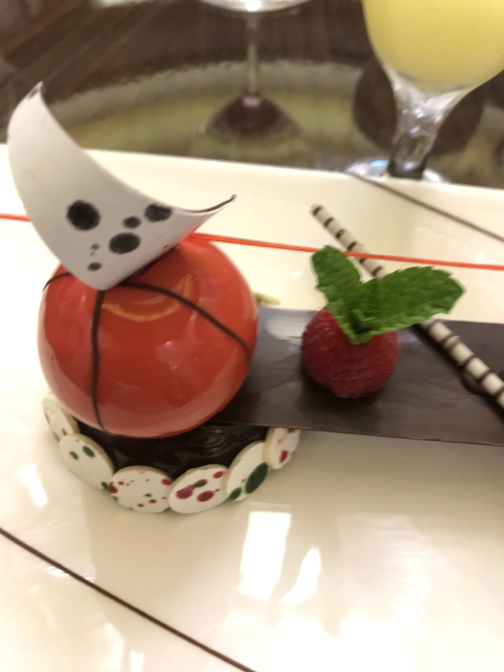 Dessert at chefs table