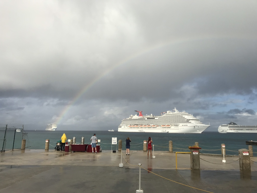 Regal princess at end of rainbow