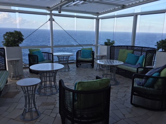 A great place to relax on Deck 15 near the Lawn Club Grill