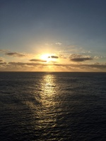 Breathtaking sunset over the coral sea