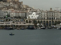Algiers  Port, Main Street, and Mosque
