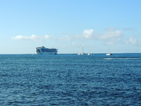 Star Princess anchored off Maui.