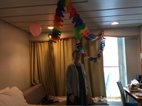 Happy 80th birthday, mom. Housekeeping did a great job decorating.