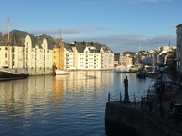 Picturesque houses in Ålesund