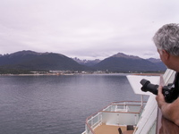 Leaving Ushuaia after a very disappointing shore visit.