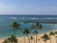 View from balcony at Hilton Hawiian Village
