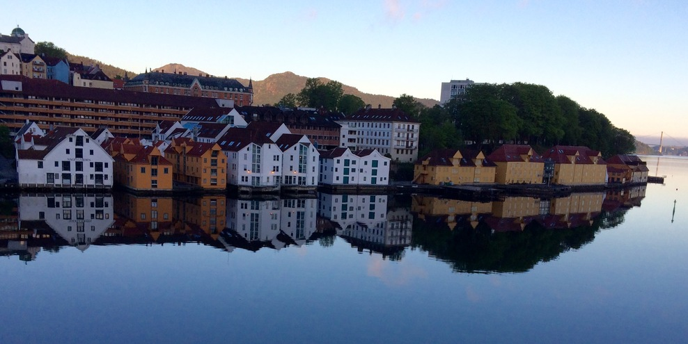 Where we launched in Bergen aboard the Viking Sky