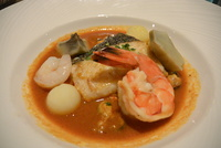Seafood mix main course