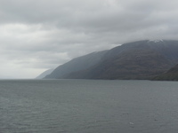 Rounding Cape Horn from our balcony