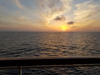 Beautiful sunsets at sea