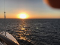 Sunrise from deck of Disney Wonder.