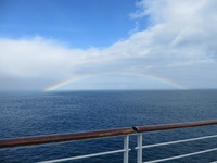 Rainbow in elephant island