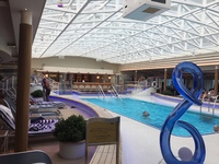 The indoor pool area