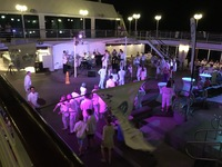 White Night party on deck