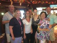 This is a picture of us with cruise director Jaime Dee.
