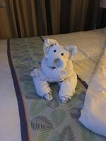One of the different towel animals who may frequent your cabin when you are