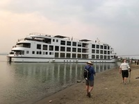 Boat parked on the Irrawaddy!