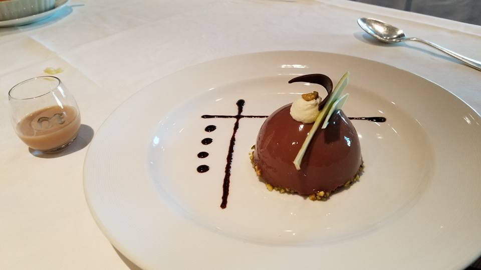 Amazing chocolate/pistachio mousse