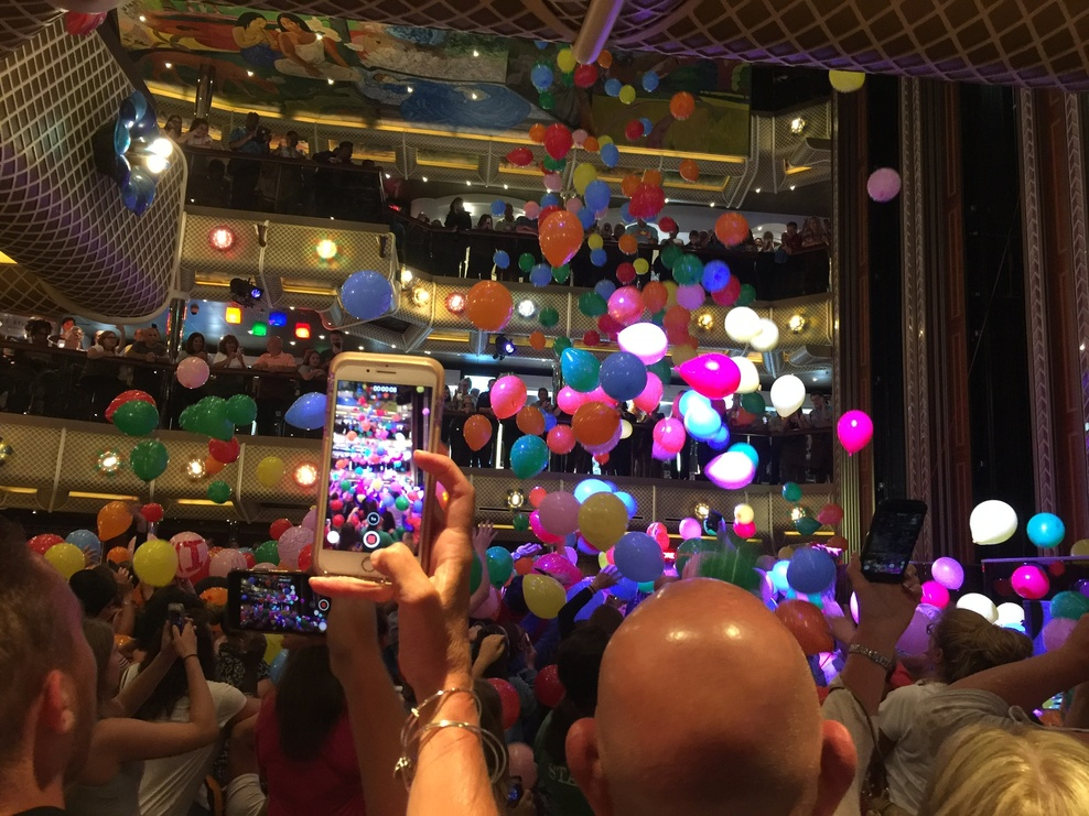 Last night balloon drop